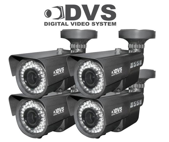 4 kamery zewnętrzne / wewnętrzne 700 linii z szerokim obiektywem regulowanym 90stopni